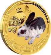 Australia Dollars Year of the Rabbit 2008 YEAR OF THE RABBIT coin reverse