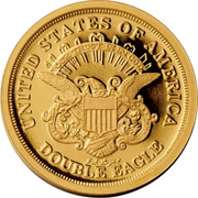 USA Double Eagle Pattern Smithsonian Collection 2017 Proof UNITED STATES OF AMERICA OUR TRUST IS IN GOD DOUBLE EAGLE coin reverse