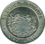 UK ECU Scotland 1992 EUROPE EUROPA SCOTLAND coin obverse