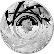 Australia Five Dollars The Earth 2018 ELIZABETH II ∙ AUSTRALIA ∙ ONE OUNCE FINE SILVER IRB coin obverse