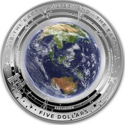 Australia Five Dollars The Earth 2018 2018 THE EARTH AND BEYOND - THE EARTH FIVE DOLLARS STRATOSPHERE TROPOSPHERE THERMOSPHERE MESOSPHERE EXOSPHERE coin reverse