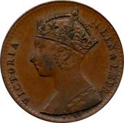 UK Half Farthing Lauer Model Half Farthings Victoria 1887 VICTORIA QUEEN & EMPR coin obverse