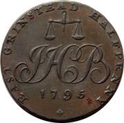 UK Halfpenny Scarce Boorman's East Grinstead Masonic 1795 EAST GRINSTEAD HALFPENNY 1795 coin obverse