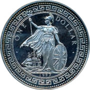 UK One Dollar 50th anniversary of Indian Independence 1997 ONE DOLLAR 1997 coin obverse