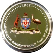 Australia One Dollar Coat of Arms 2008 P Proof 1908 AUSTRALIAN COMMONWEALTH COAT OF ARMS coin reverse