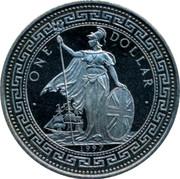 UK One Dollar Hog Kong Return to China 1997 HONG KONG RETURNS TO CHINA VICTORIA coin obverse