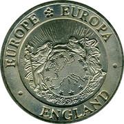 UK One ECU England 1992 EUROPE EUROPA ENGLAND coin obverse