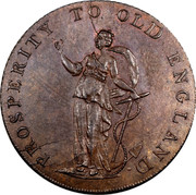 UK ½ Penny (J. Jordan (Essex - Chelmsford)) PROSPERITY TO OLD ENGLAND coin obverse