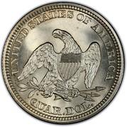 USA Quar. Dol. Seated Liberty 1861 KM# A64.2 UNITED STATES OF AMERICA QUAR. DOL. coin reverse