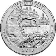 USA Quarter Dollar (Apostle Islands)  APOSTLE ISLANDS WISCONSIN 2018 E PLURIBUS UNUMั coin reverse
