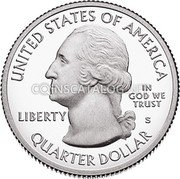 USA Quarter Dollar (Effigy Mounds) KM# 653 UNITED STATES OF AMERICA LIBERTY IN GOD WE TRUST QUARTER DOLLAR coin obverse