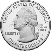 USA Quarter Dollar (Pictured Rocks)  UNITED STATES OF AMERICA LIBERTY IN GOD WE TRUST QUARTER DOLLAR coin obverse