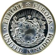 UK Silver ECU Thames 1993 EUROPE EUROPA UNITED KINGDOM coin obverse