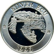 UK Silver ECU Thames 1993 SILVER ECU 1993 coin reverse