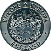 UK Twenty Five ECU (Exonumia) EUROPE EUROPA ENGLAND coin obverse