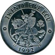 UK Twenty Five ECU (Exonumia) TWENTY FIVE ECU 1992 coin reverse