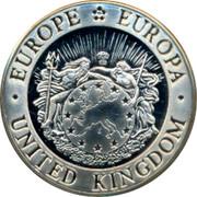 UK Twenty Five ECU Thames 1993 EUROPE EUROPA UNITED KINGDOM coin obverse