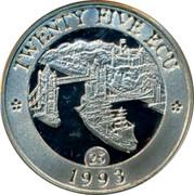 UK Twenty Five ECU Thames 1993 TWENTY FIVE ECU 1993 25 coin reverse