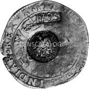 Russia Yefimok 1655 KM# 435 Empire Countermarked coinage coin obverse