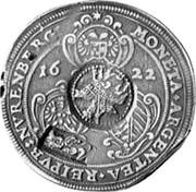 Russia Yefimok 1655 KM# 405 Empire Countermarked coinage MONETA∙ARGENTEA∙REIPVB:NVRENBERG: 1622 coin obverse