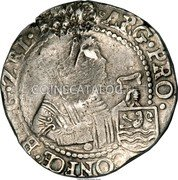 Russia Yefimok 1655 KM# 427 EMPIRE COUNTERMARKED COINAGE coin reverse