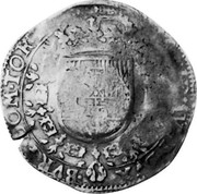Russia Yefimok 1655 KM# 435 Empire Countermarked coinage ARCHID AVST DVX BVRG COM TOR coin reverse
