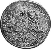 Russia Yefimok 1655 KM# 406 Empire Countermarked coinage coin reverse