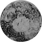 Russia Yefimok 1655 KM# 410 Empire Countermarked coinage ∙ PHIL ∙ IIII ∙ D ∙ G ∙ HISP ∙ ET ∙ INDIAR ∙ REX ∙ coin reverse