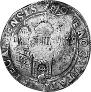 Russia Yefimok 1655 KM# 429 Empire Countermarked coinage coin reverse