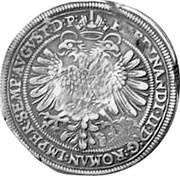 Russia Yefimok 1655 KM# 405 Empire Countermarked coinage FERDINANDVS∙II∙D:G:ROMAN:IMPER∙SEMPER:AVGVST: coin reverse