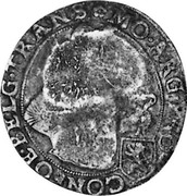 Russia Yefimok 1655 KM# 426 Empire Countermarked coinage MO ∙ ARG ∙ PRO-CONFOE ∙ BELG ∙ TRANS coin reverse