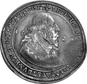 Russia Yefimok 1655 KM# 407 Empire Countermarked coinage LEOPOLD:D:G:ARCHIDVX:AVST∙DVX∙BVR:ETC:SAC:CAES:MTISET coin reverse