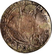 Russia Yefimok Alexey Mikhailovich (Countermarked over Netherlands Rijksdaalder 1606-1653) 1655 KM# 420 MO:NO:ARG:PRO:CONFOE::BELG:CO:HOL coin reverse