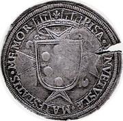 Russia 1 Yefimok Alexey Mikhailovich (Countermarked Italian 1 Tallero) 1655  PISA ∙IN VETVSTAE ⋮ MAIESTATIS ∙MEMORIA ∙ coin reverse