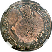 Russia 1 Yefimok Countermarked over Austria Archduke Ferdinand Taler 1655  1655 FERDINANDVS : D : G : ARCHID : AVSTRIAE coin obverse