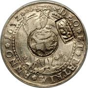 Russia 1 Yefimok Countermarked over Brunswick-Wolfenbuttel Wildman Taler 1632 1655  DEO ET PATRIAE ANNO 1632 coin obverse