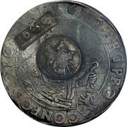 Russia 1 Yefimok Countermarked over Overijssel Rijksdaalder 1620 1655  1655 coin obverse