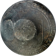 Russia 1 Yefimok Countermarked over Overijssel Rijksdaalder 1620 1655  coin reverse