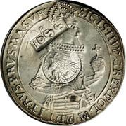 Russia 1 Yefimok Countermarked over Poland Sigismund III Thaler 1630 1655  1655 SIGIS III D G REX POL M - D LIT RVS PRVS MA SVR coin obverse