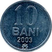 Moldova 10 Bani 2003 KM# 7 Decimal Coinage 10 BANI 2005 coin reverse