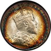 Canada 10 Cents Edward VII 1903 KM# 8 EDWARDVS VII D.G. REX IMPERATOR coin obverse