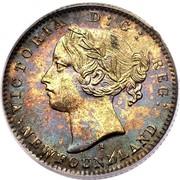 Canada 10 Cents Victoria 1865 KM# 3 VICTORIA D: G: REG: NEWFOUNDLAND coin obverse