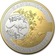 Australia 10 Dollars Kangaroo 25th Anniv 2018 KANGAROO 25TH ANNIVERSARY 5OZ .999 AG coin reverse