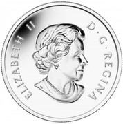 Canada 10 Dollars Montreal Canadiens 2015 Proof KM# 1828 ELIZABETH II D ∙ G ∙ REGINA coin obverse