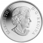Canada 10 Dollars Salmon 2014 Proof KM# 1794 ELIZABETH II D ∙ G ∙ REGINA coin obverse