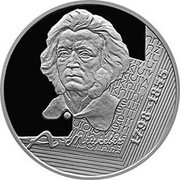 Belarus 10 Roubles 200th Annyversary of Adam Mickewicz 1998 Proof KM# 24 А. МІЦКЕВІЧ 1798-1855 coin reverse