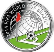 Belarus 10 Roubles The 2014 FIFA World Cup - Brazil 2013 Proof KM# 446 2014 FIFA WORLD CUP BRASIL coin reverse