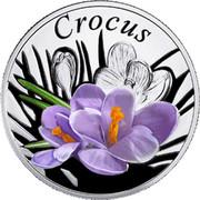 Belarus 10 Roubles The Crocus 2013 Proof KM# 522 CROCUS coin reverse