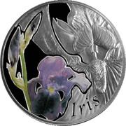 Belarus 10 Roubles The Iris 2013 Proof KM# 519 IRIS coin reverse