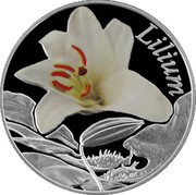 Belarus 10 Roubles The Lily 2013 Proof KM# 517 LILIUM coin reverse